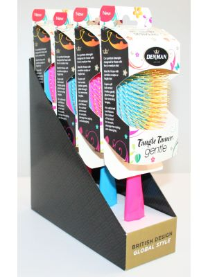 Denman Tangle Tamer Gentle 4-pack Blå/Rosa