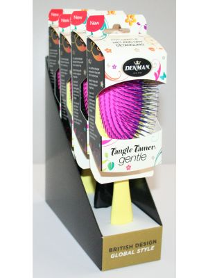 Denman Tangle Tamer Gentle 4-pack Gul/Svart