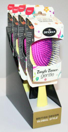 Denman Tangle Tamer Gentle 4-pack Gul/Svart